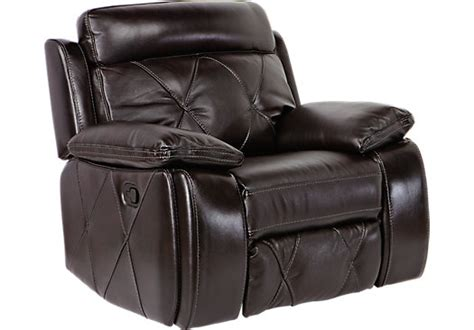 recliner black cindy crawford home wilshire place black cherry leather