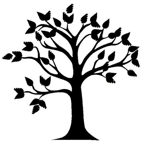 printable family tree silhouette best tree clipart black and white 18993 clipartion com