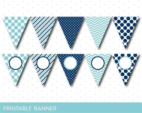 printable birthday banner blue blue party banner blue banner blue birthday banner blue
