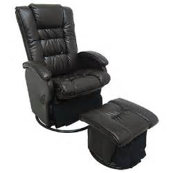 Leather Glider Rocker Recliner Chair With Ottoman Faux Leather Glider Recliner With Ottoman Big Lots