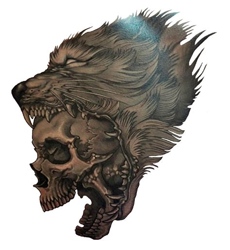 3d wolf tattoo wolf skull http 3d tattoodesign hd wolf