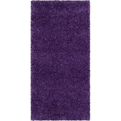 Purple Runner Rugs Safavieh Milan Shag Runner Rug In Purple Sg180 7373 24