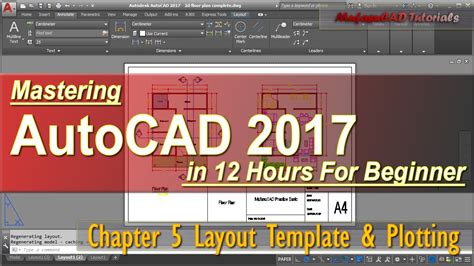 Autocad 2017 Layout Template Plotting Tutorial Course Chapter 5 Youtube Autocad 2017 Templates