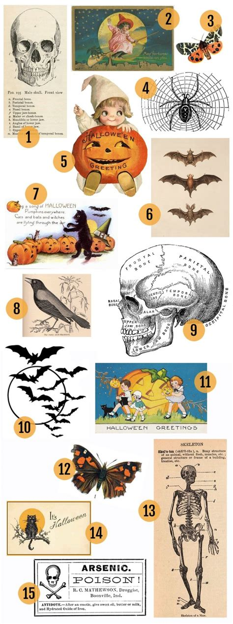 printable halloween decorations pdf free vintage halloween printables vintage halloween art