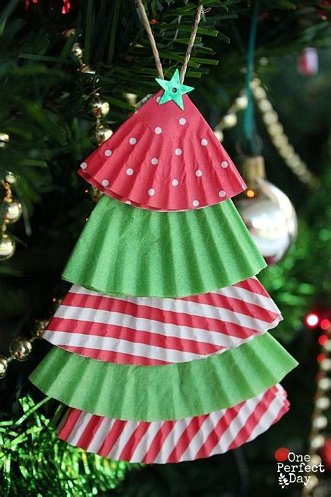 cupcake liner trees how to make recycled tree decorations