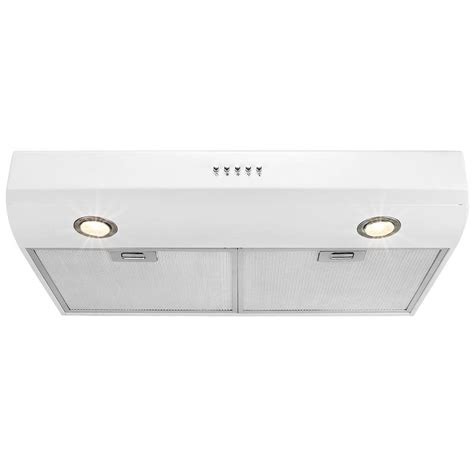 Akdy 30 In Kitchen Under Cabinet Range Hood In White Hd
