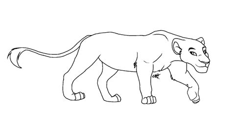 coloring pages lioness lioness lineart by sofielruesdelartiste on deviantart