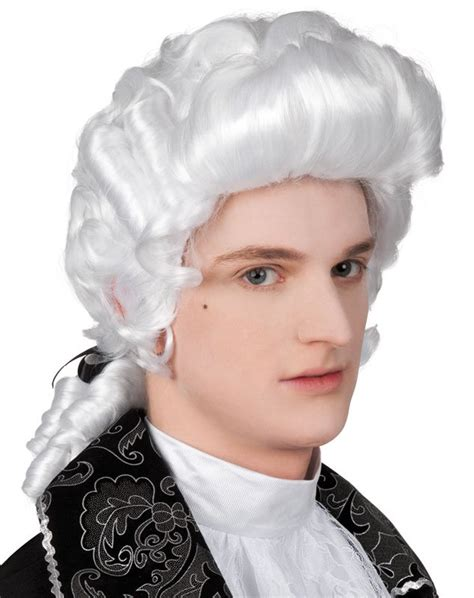mens white baroque wig