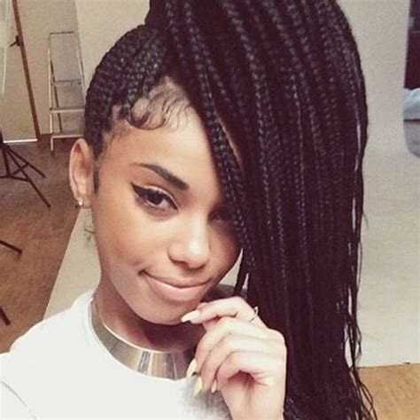 box braids cute styles to the side 50 glamorous ways to rock box braids hair motive hair motive