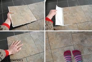 Installing Floor Tile Diy How To Install Groutable Vinyl Floor Tile Burger