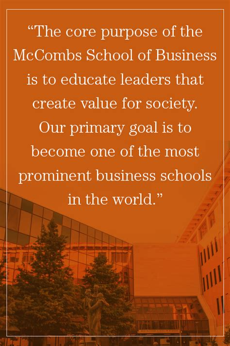 Vision And Mission Of Mba Student by About Mccombs School Of Business