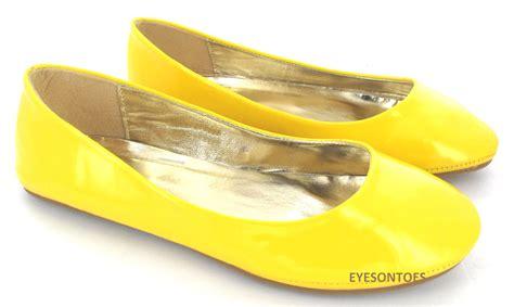 Yellow Flat Shoe flat ballet ballerina pumps plain womans work school dolly shoes sz 3 9 ebay