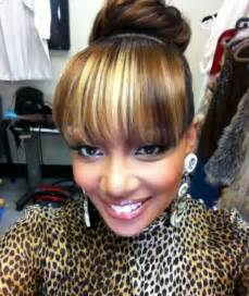 black hairstyles bun with bangs black bun hairstyles with bangs