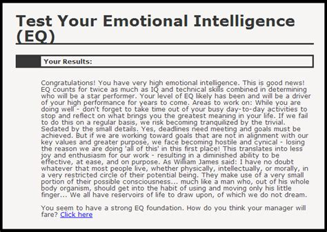 Emotional Intelligence Test Printable