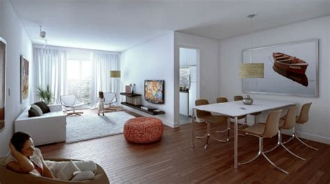 Wohnzimmer Holzboden by Attraktive Kombination Wohn Und Esszimmer