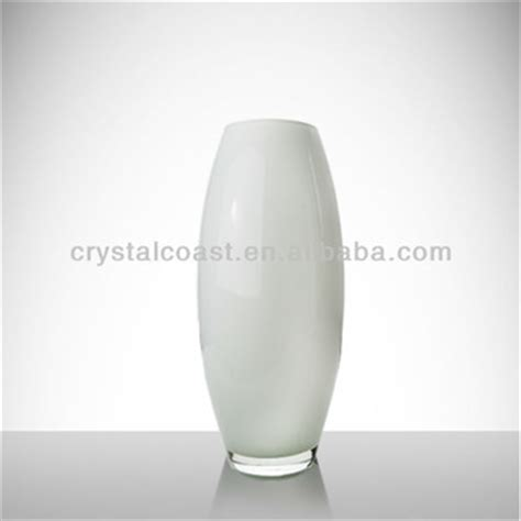 Large Glass Floor Standing Vases by New 2014 Glass Vase Large Cylinder White Floor