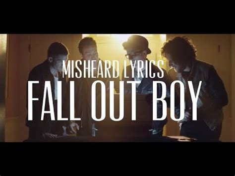 Fall Out Boy Misheard Lyrics by Misheard Lyrics Fall Out Boy