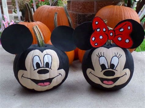 mickey mouse pumpkin faces mickey pumpkin painting pumpkins minnie mouse