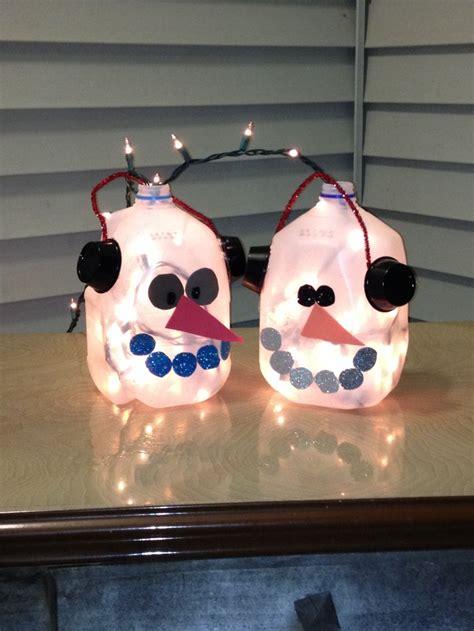 milk jug snowmen christmas pinterest milk snowman
