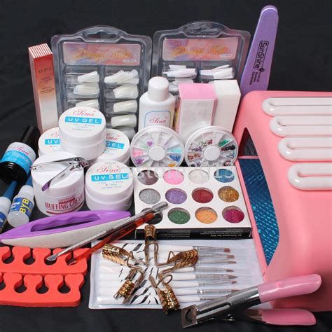 Manicure Kit nail kit uv builder gel 36w timer dryer l