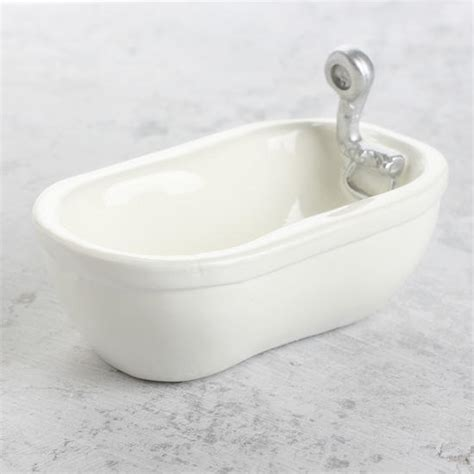 re porcelain bathtub miniature porcelain look bathtub what s new dollhouse miniatures doll making