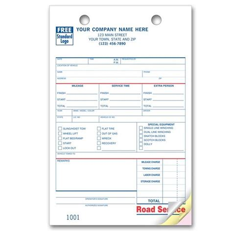 towing receipt template free towing invoice template hardhost info
