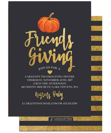 Friendsgiving Ideas 2017 Food Decorations And Games Friendsgiving Invitation Free Template