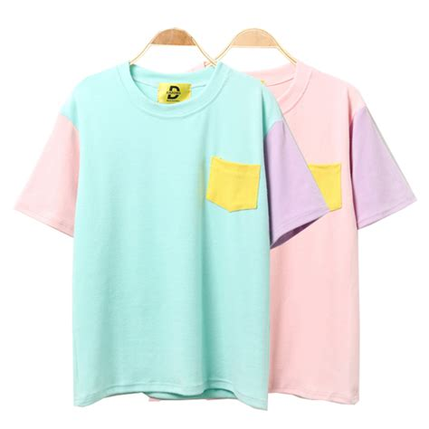 Patchwork T Shirts - aliexpress buy 2017 korean summer style