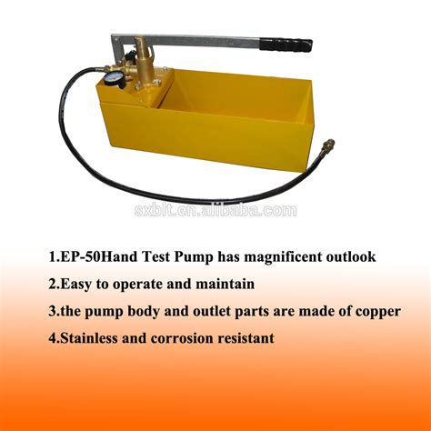Hydrostatic Bench Ce Supported Pipe Manual Hydrostatic Test Pump Manual