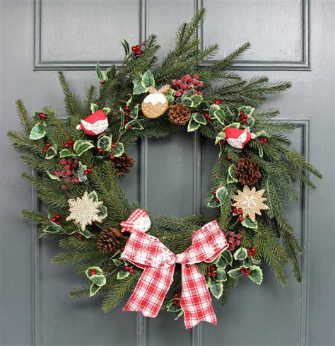 how to decorate a christmas wreath with gisela graham