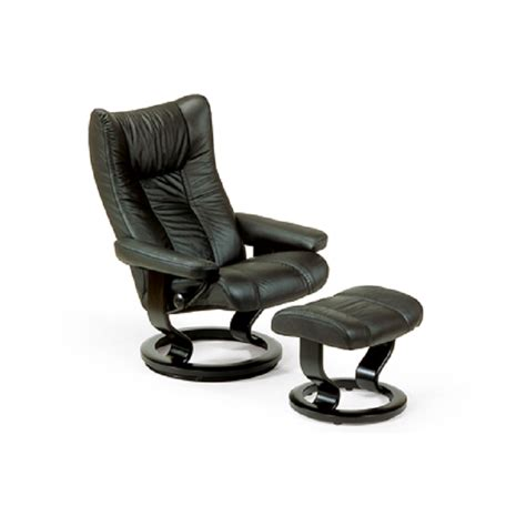 stress less recliner stressless wing recliner and ottoman by ekornes ekornes