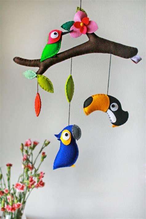 Mobile Baby Dawanda by Mobile Mobile Quot Tropical Birds Quot Ein Designerst 252 Ck