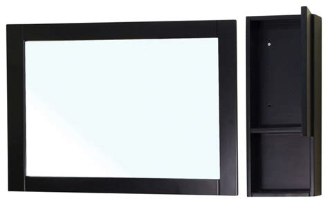 mirror cabinet wood black modern bathroom mirrors by