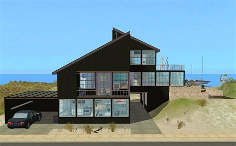 modern coastal house seaside oceanside mod the sims link to the past modern house