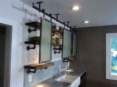 Vintage Steel Kitchen Cabinets 15 uses for pipe shelving around the house