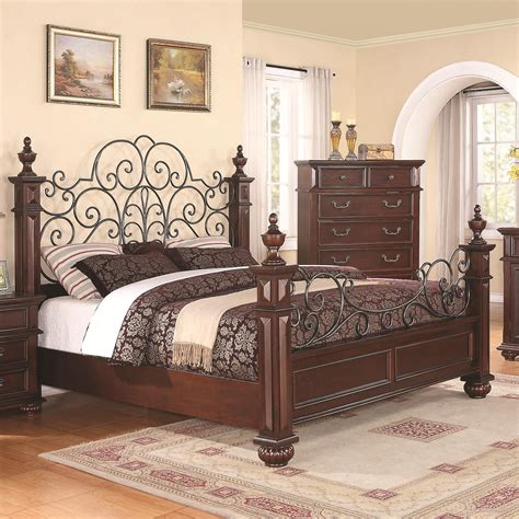 Wrought Iron And Wood Bedroom Sets by Low Wood Wrought Iron King Size Bed Home