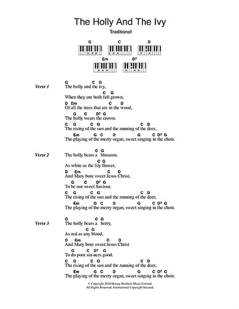 pattern in the ivy lyrics christmas carol the holly and the ivy sheet music