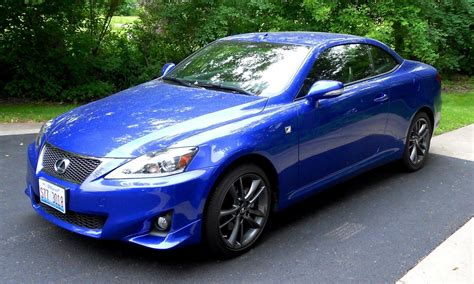 lexus sports car blue road test review 2014 lexus is250 f sport convertible is