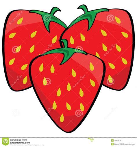 strawberry cartoon cartoon strawberries stock images image 15315514