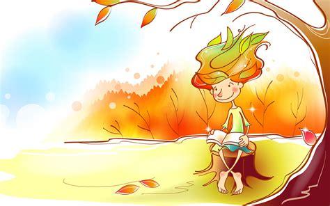 wallpaper design illustrator fairy autumn illustrator wallpaper 6 paintings
