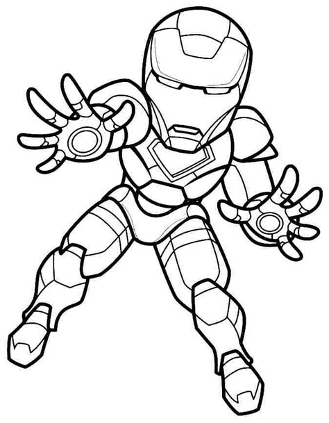 ironman superhero squad coloring pages
