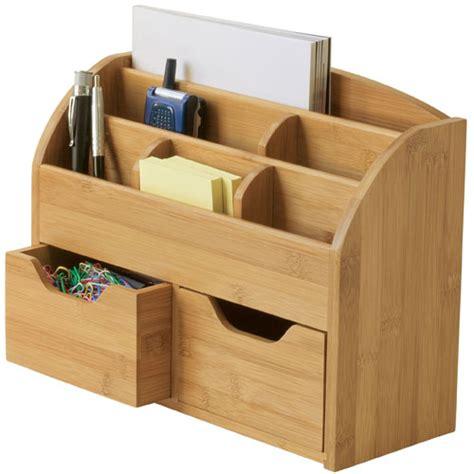 Bamboo Desktop Organizer In Desktop Organizers Bamboo Desk Organizer