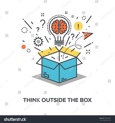 Think Outside Of The Box think outside box stock vector 534602074