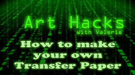 Make Your Own Transfer Paper - hacks your own transfer paper
