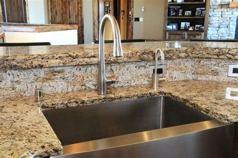 stone veneer kitchen backsplash thin stone veneer installed as a backsplash easy to put