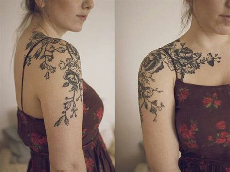 tattoo beautiful pinterest delicate floral antique tattoo on the shoulder cap