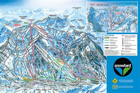 map of us ski area snowbird ski and summer resort skimap org