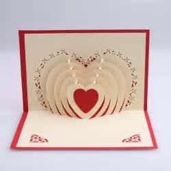 heart handmade 3d wedding card creative kirigami amp origami