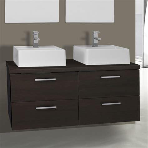 45 Inch Bathroom Vanity 45 Inch Wenge Vessel Sink Bathroom Vanity Wall Mounted Iotti An55 Thebathoutlet