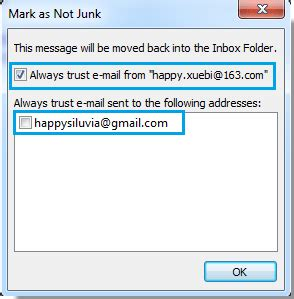 Office 365 Outlook Junk Folder How To An Email Message As Not Junk Or Spam In Outlook